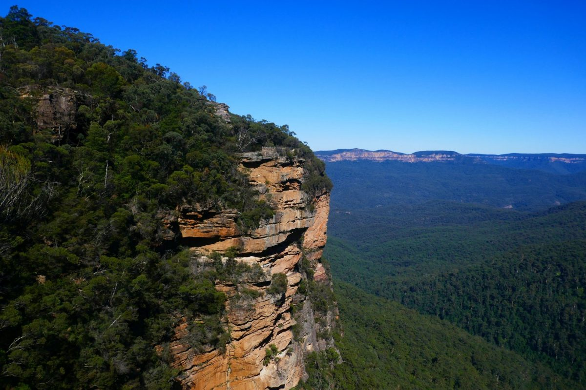 The view of Jamison Valley from Fletcher's Lookout, near Wentworth Falls in the Blue Mountains