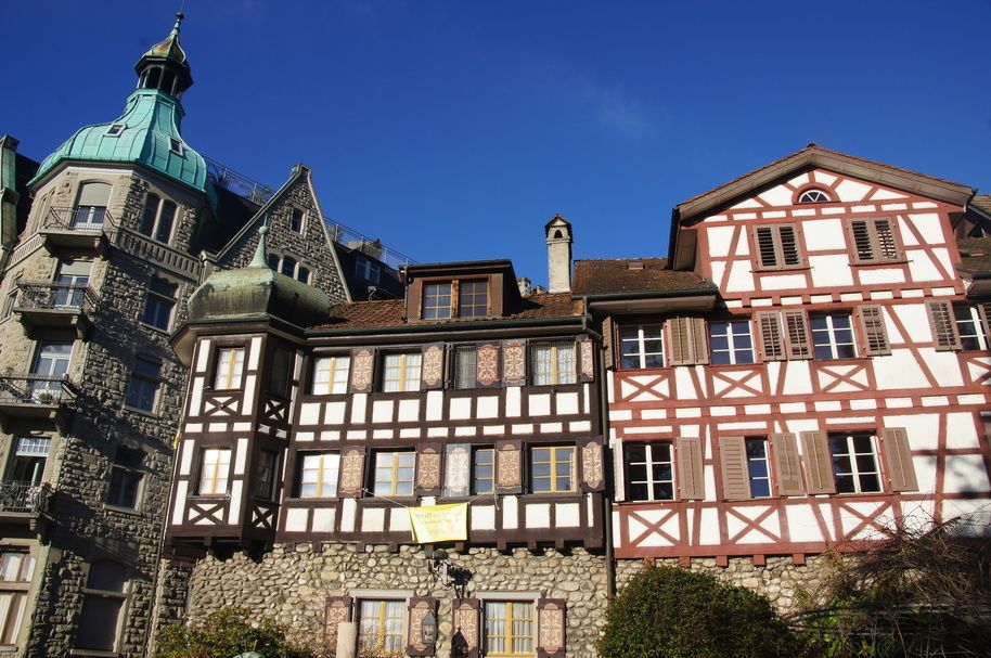 Arbon Switzerland half-timbered houses