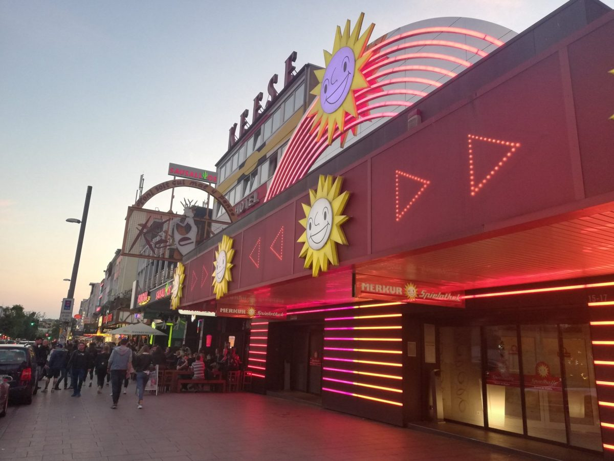 The Reeperbahn in Hamburg Germany