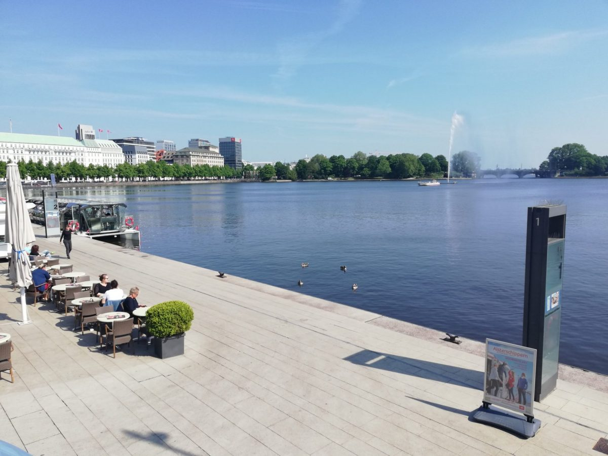 Inner Alster Lake in Hamburg Germany