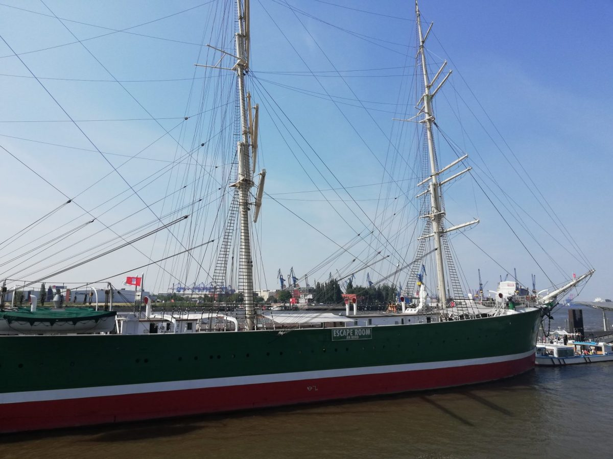 Rickmer Rickmers ship in Hamburg