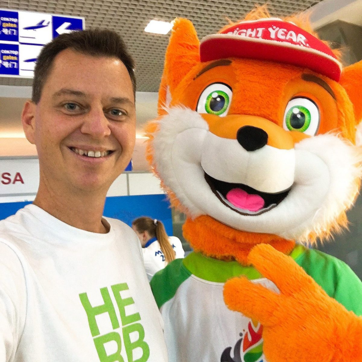 Nick and Lesik, mascot of the European Games in Minsk Belarus