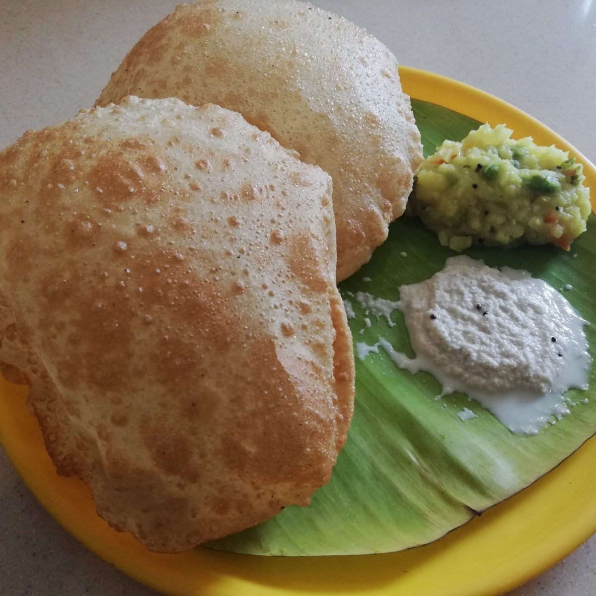Puri is just one of the many vegan dishes available at A2B