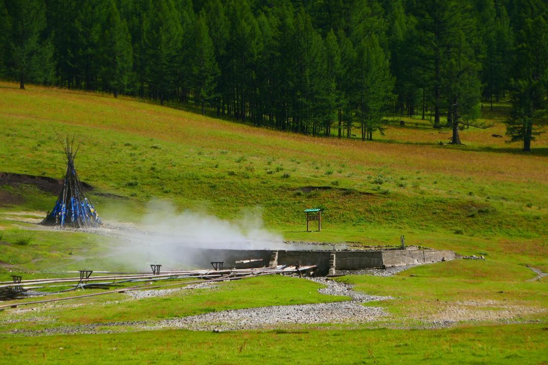 Tsenkher Hot Springs in Mongolia
