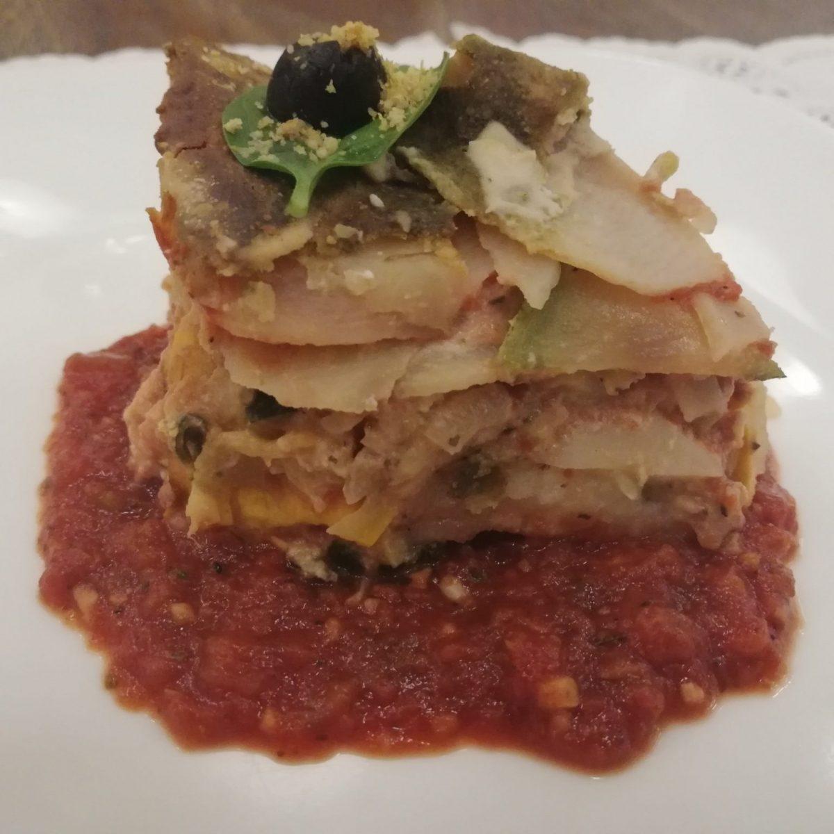 Pasta-free lasagna at JustBe Café