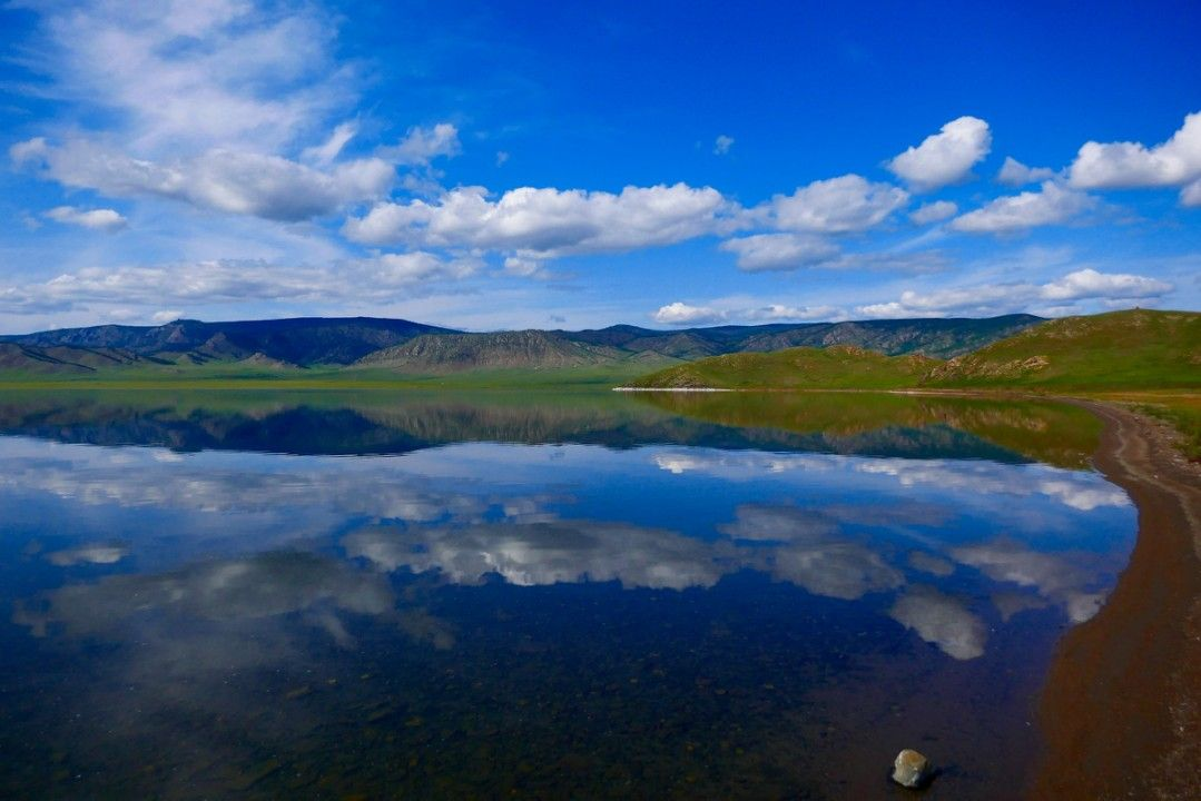 A beautiful lake in Mongolia