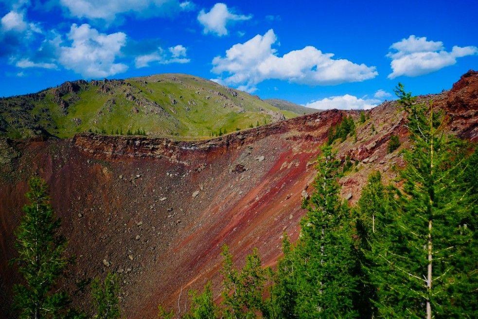 Khorgo volcanic crater in Khorgo-Terkhiin Tsagaan Nuur National Park