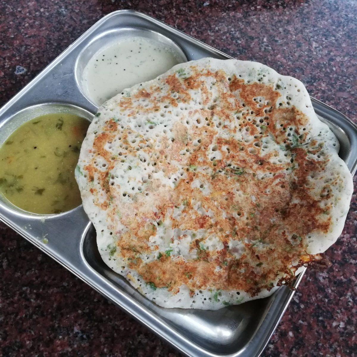 Onion uttapam at Konark Kanteerava