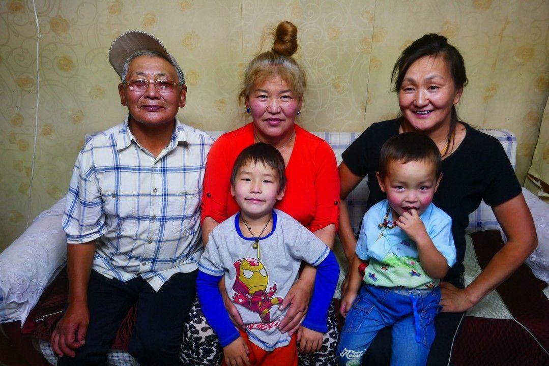 Mongolian family in Moron
