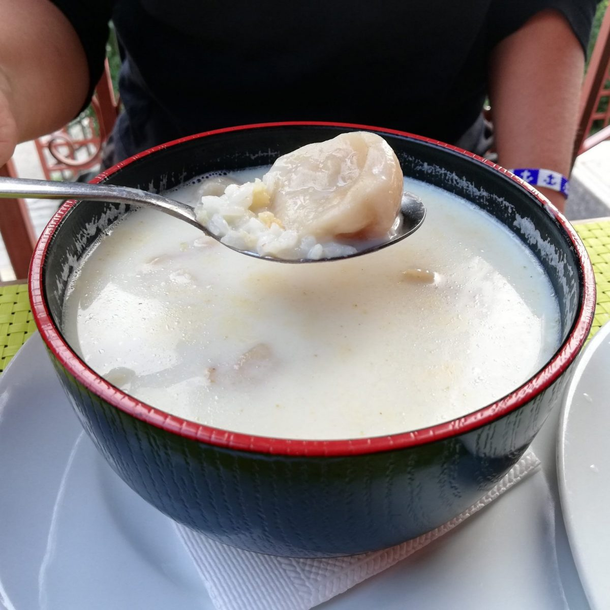 Banshtai Tsai - Mongolian milk tea with rice and dumplings