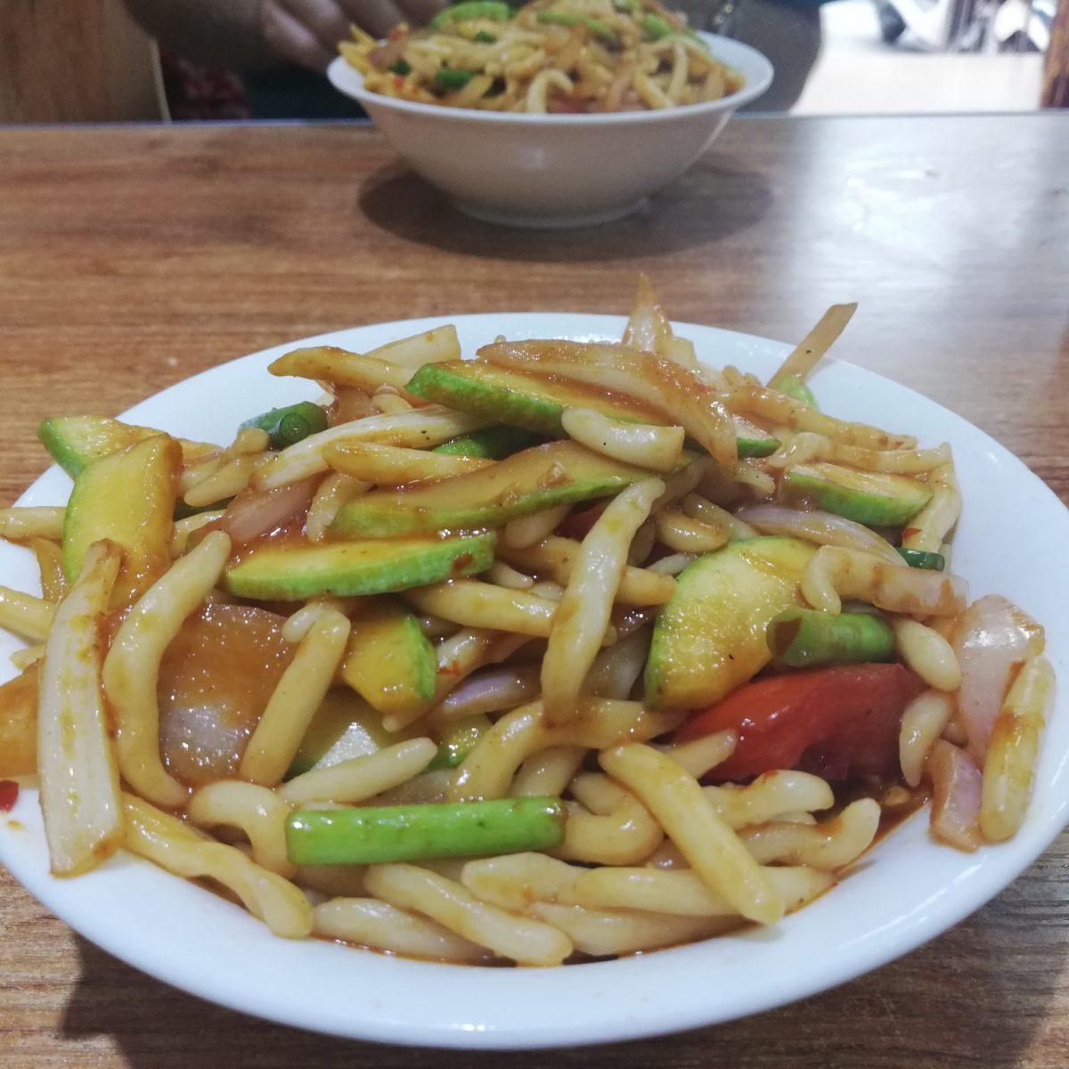 """Cuo yu mian, or """"rub fish noodles"""""""
