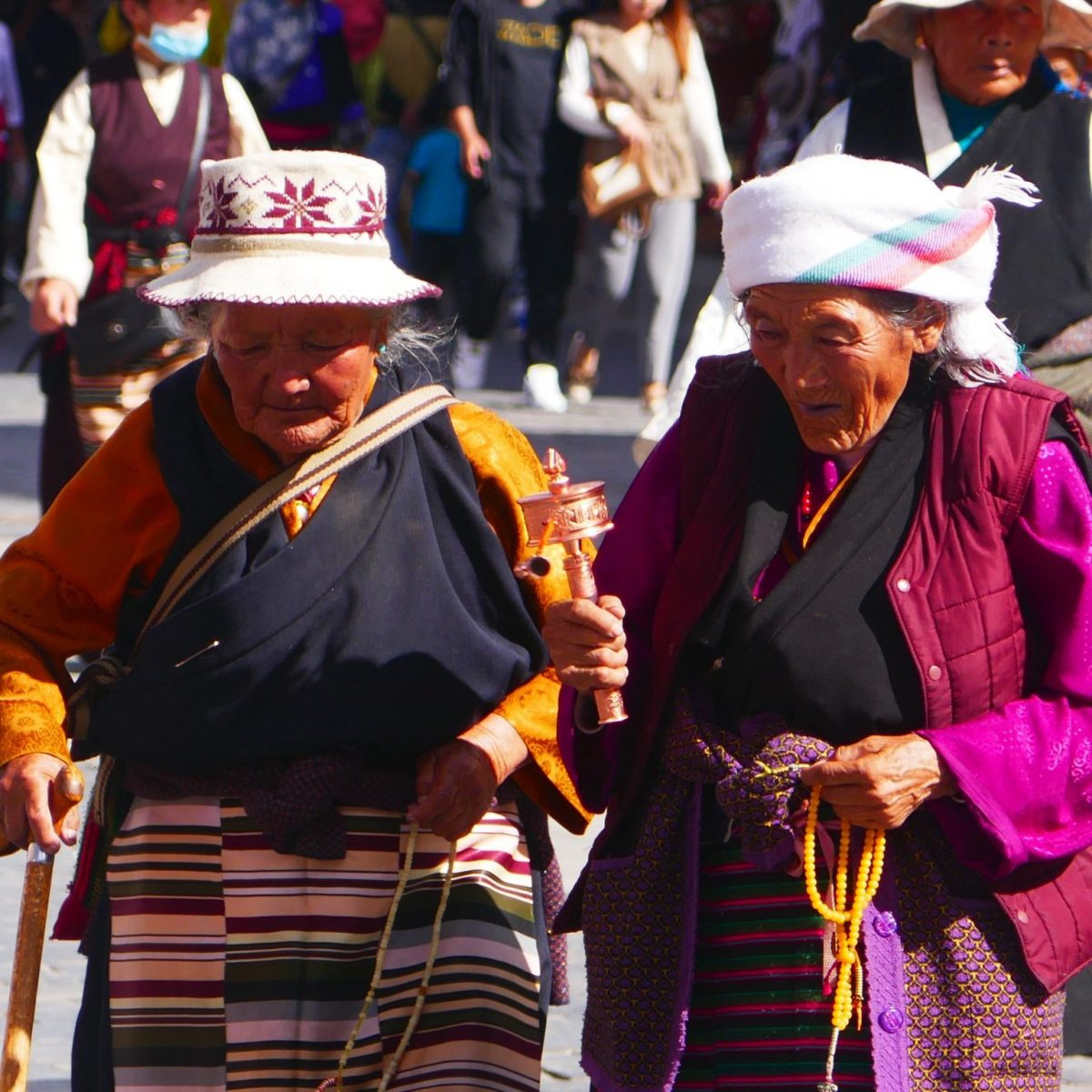 pilgrims on Barkhor Street