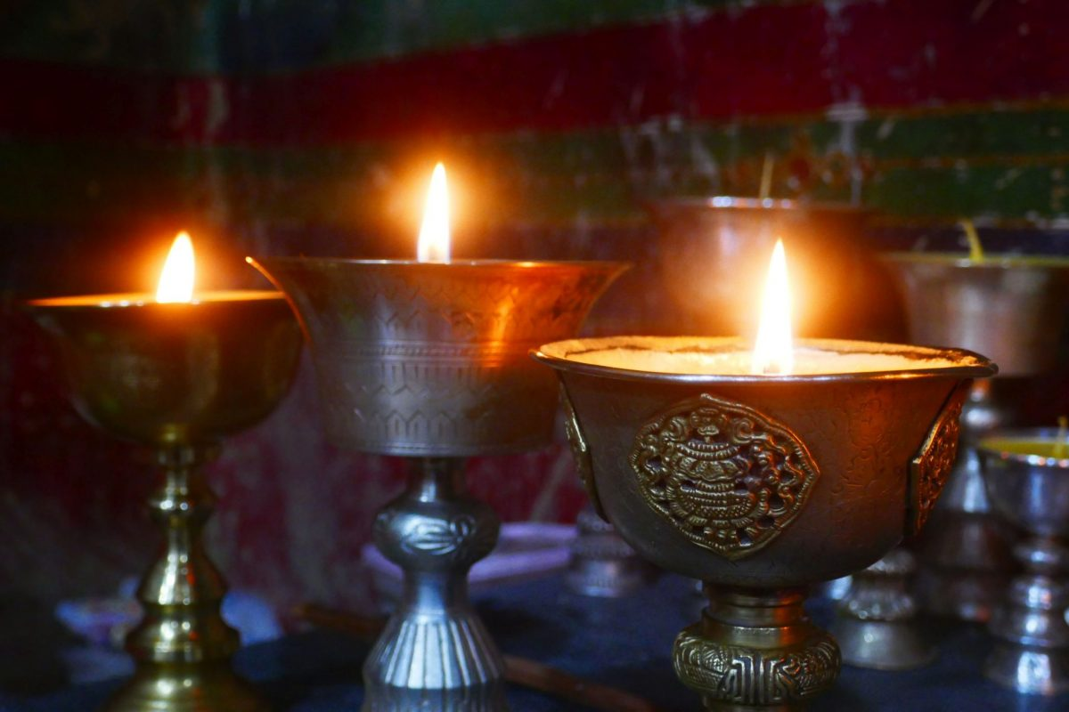 Candles at Rongbu Monastery