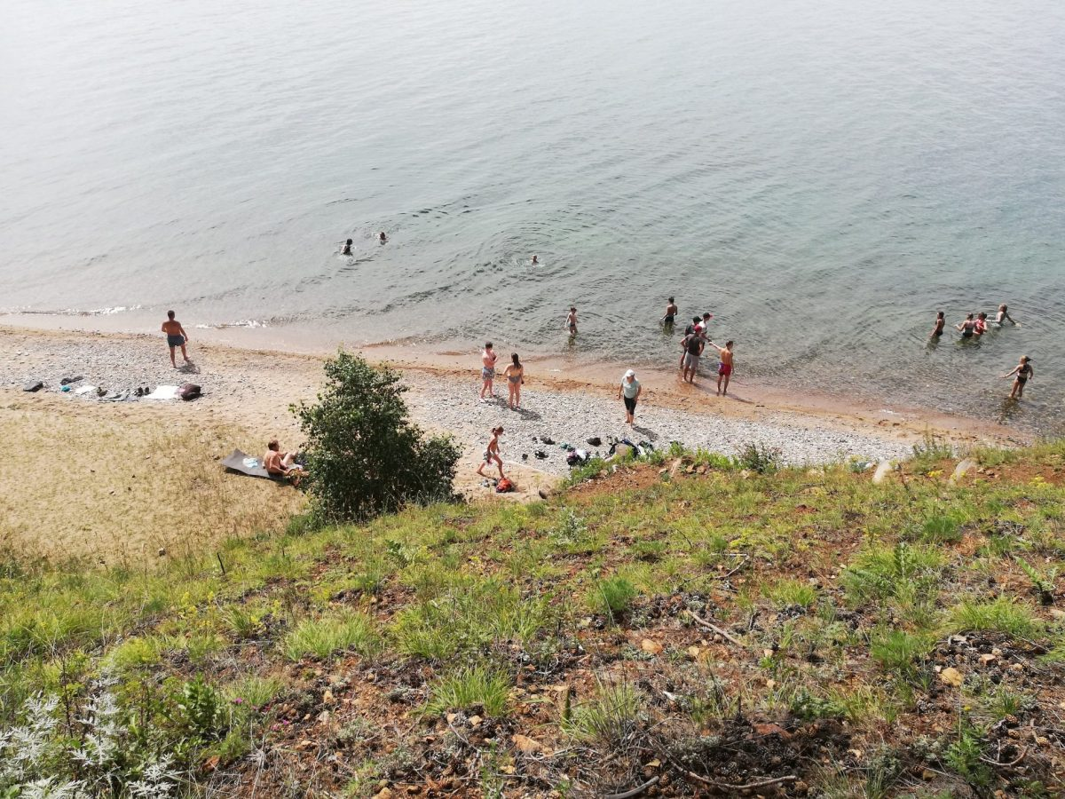 Swimming in Lake Baikal