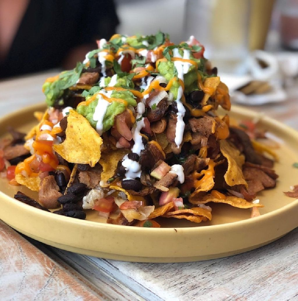 Vegan nachos at I Am Vegan Babe in Canggu