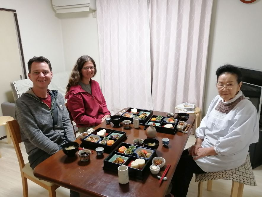 Eating in a Japanese home