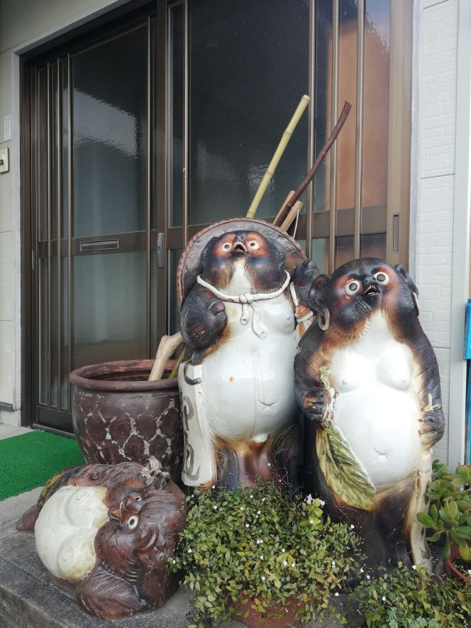 Tanuki symbol of hospitality in Japan