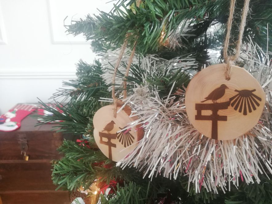 Dual Pilgrim Christmas tree ornaments