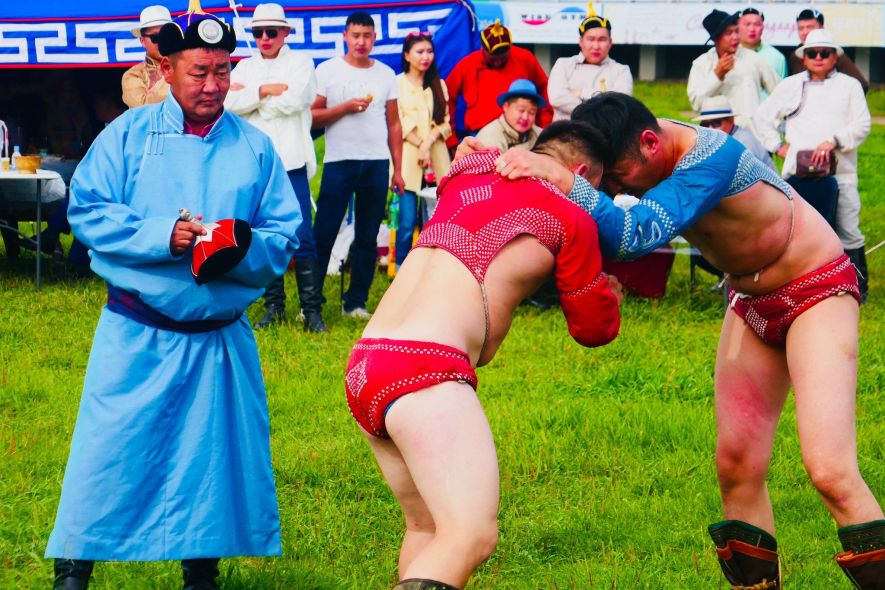 wrestling in Mongolia