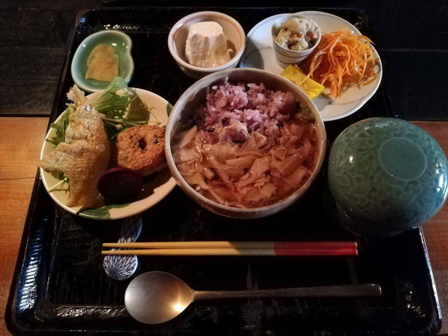 Japanese set lunch meal