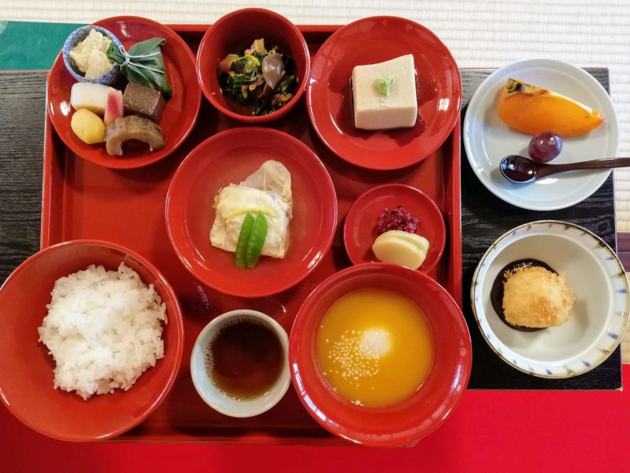 Shojin ryori meal in Kyoto