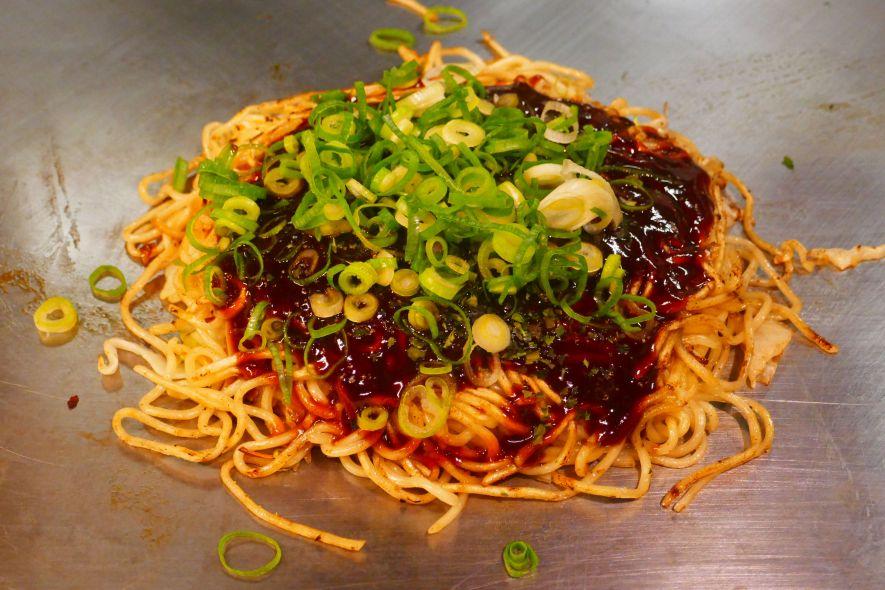 Vegan okonomiyaki in Hiroshima