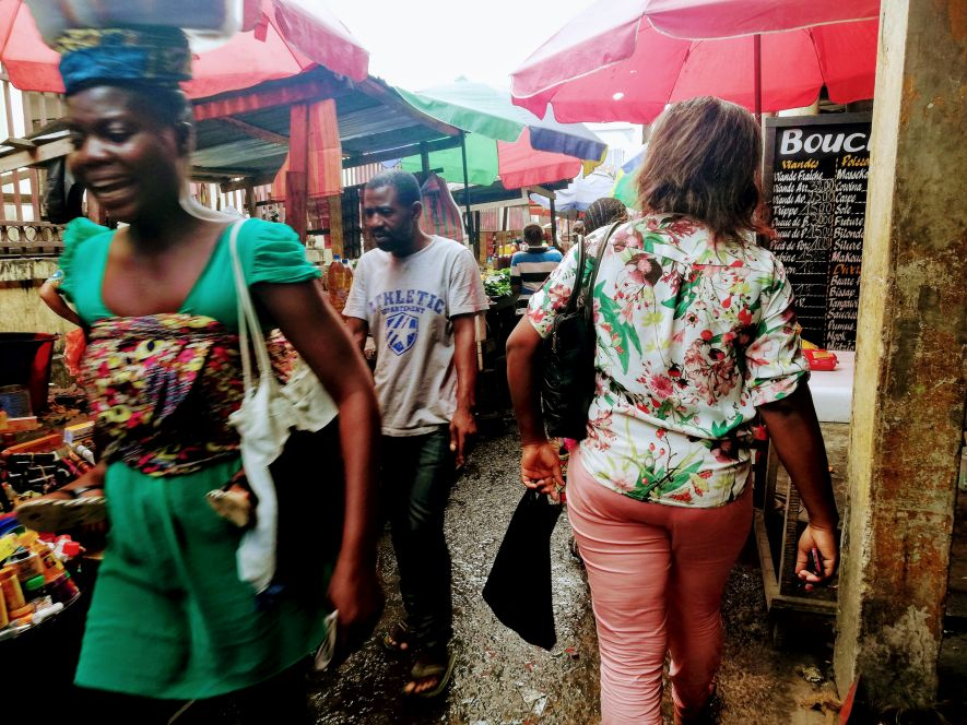 Shopping at Marché Total in Brazzaville