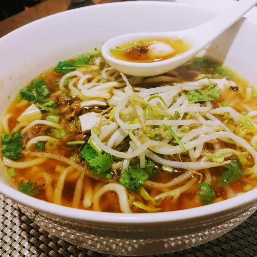 Dan Zai Mian at MeiMen vegetarian restaurant Taipei