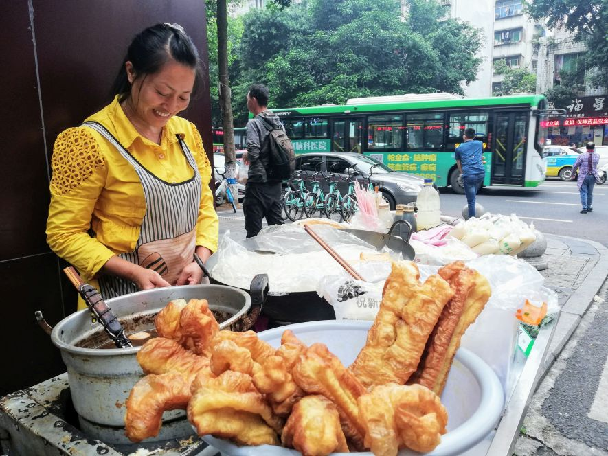 Youtiao Chinese breakfast