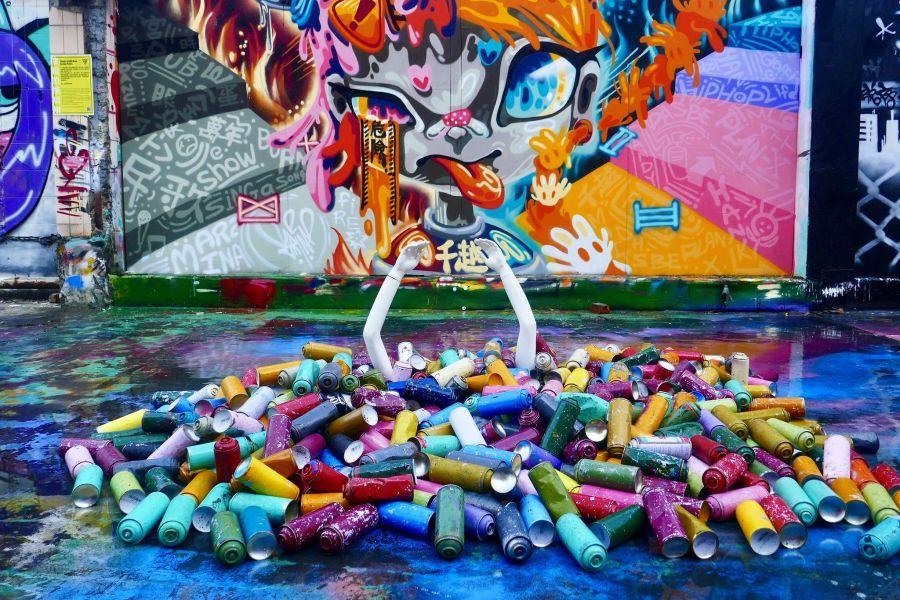 Street art Qianyue Building Taichung