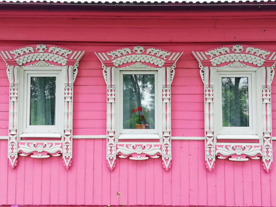 A typical wooden house in Suzdal Russia
