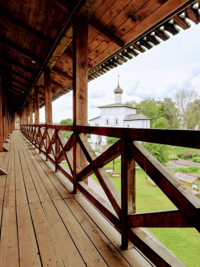 Ramparts St Euthymius Monastery Suzdal