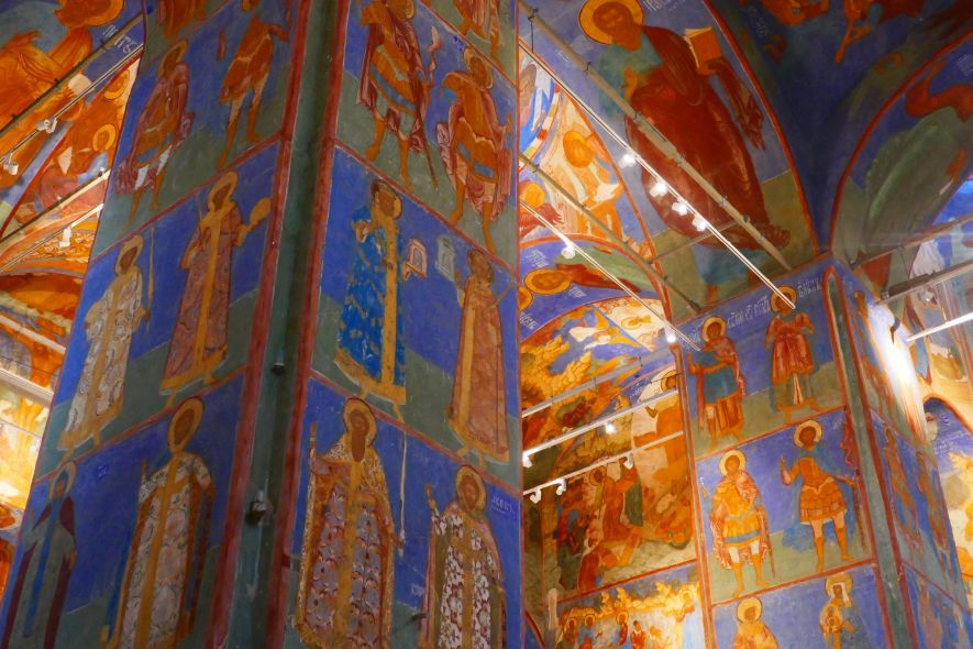 Frescoes inside the Cathedral of the Transfiguration of the Saviour