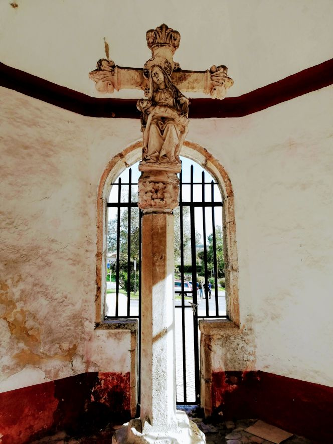 Stone memorial cross Portugal