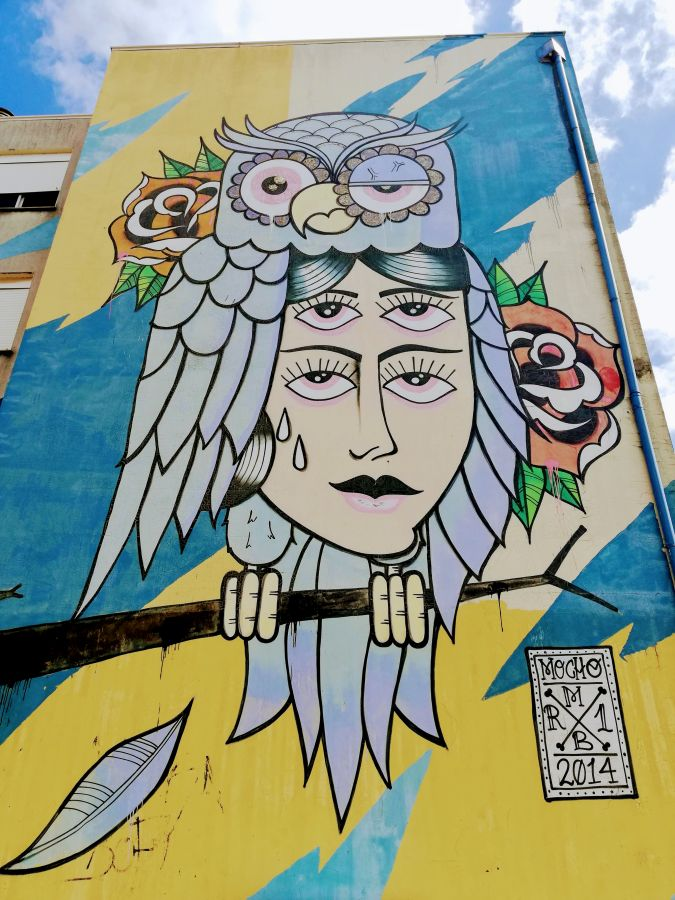 The first street art mural in Quinta do Mocho