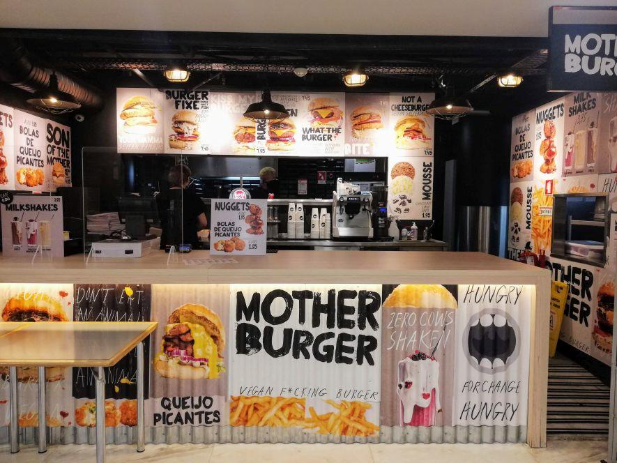 Vegan fast food burgers at Mother Burger
