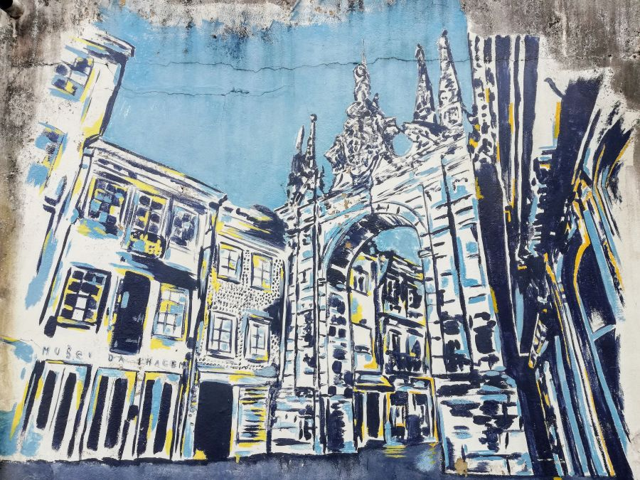 Arco da Porta Nova Braga in street art