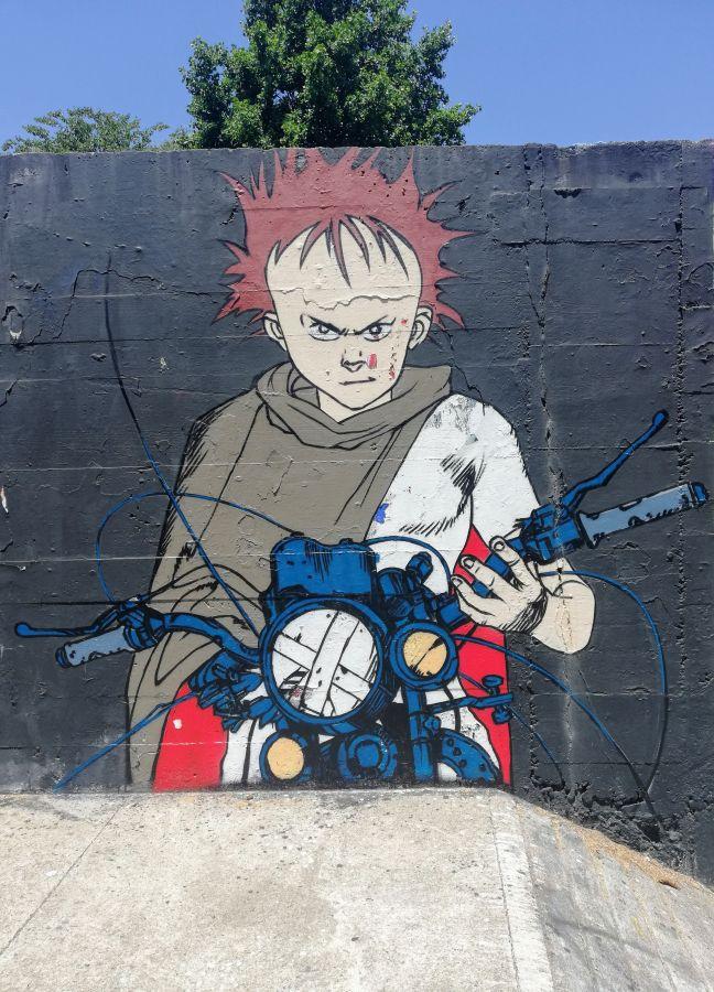 Japanese animé-inspired street art