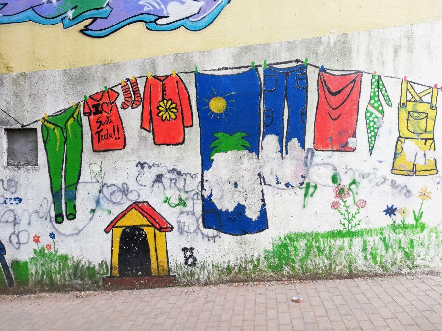 Street art in bairro social Santa Tecla, Braga