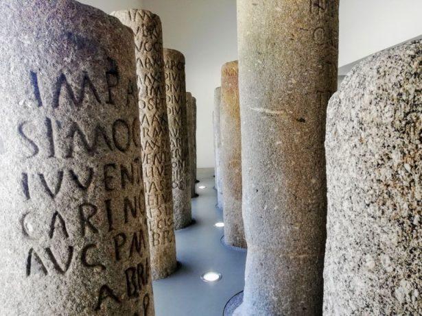 Ancient Roman milestones Braga