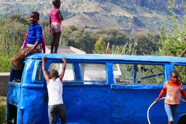 Lesotho kids playing