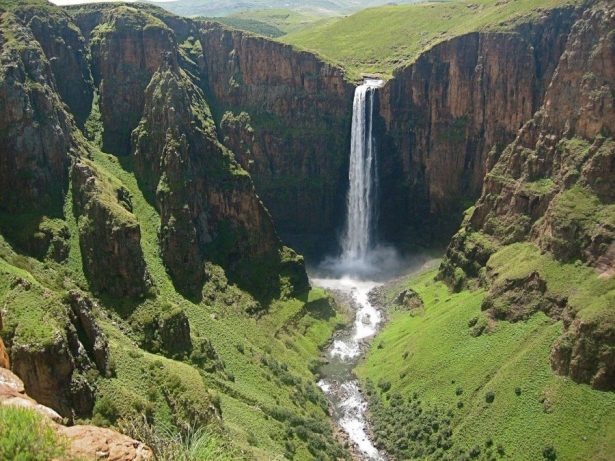 Maletsunyane Falls is one of the places to visit in Lesotho