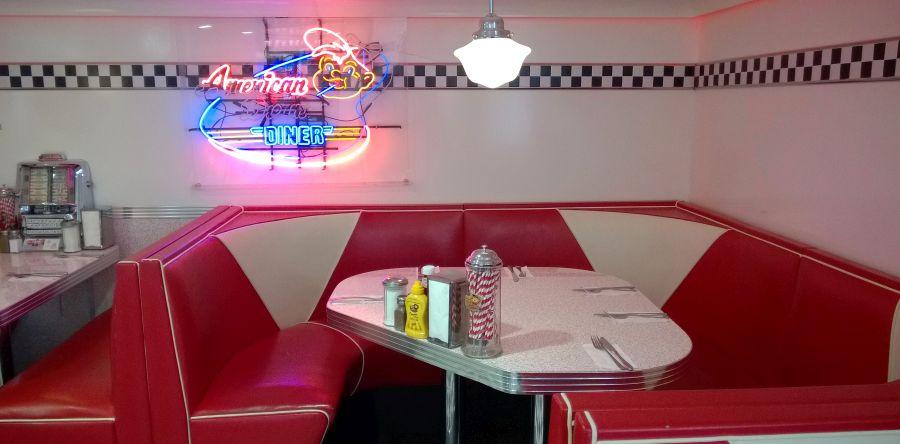 American diner in Geneva