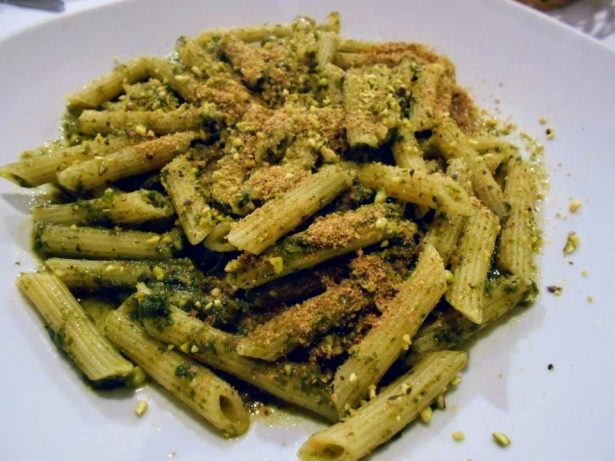 Pesto siciliano with pasta