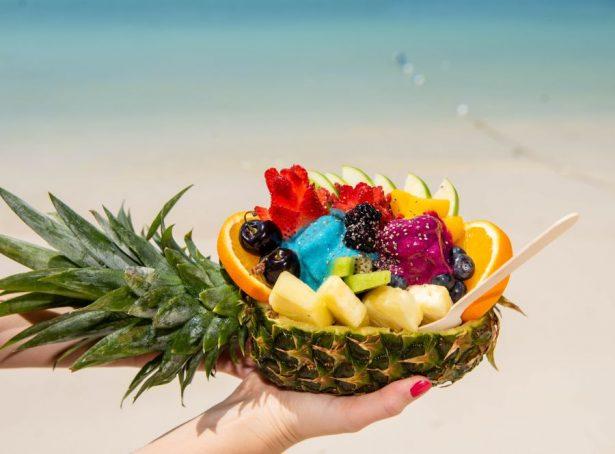 Aruba beach fruit in a pineapple