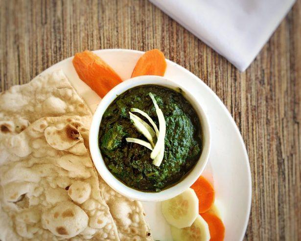 palak tofu vegan Indian dish