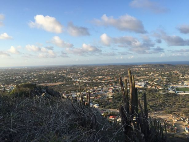 View from Hooiberg Hill Aruba