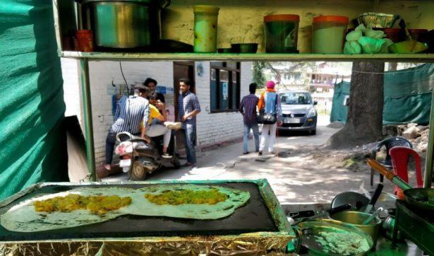 Roadside dosa stall