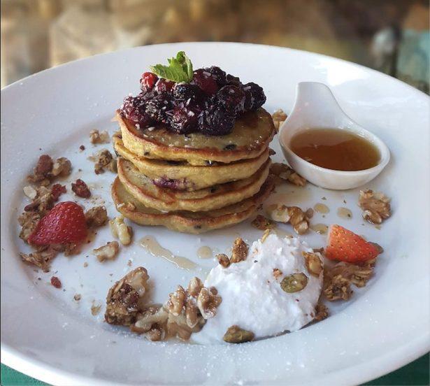 vegan Jungle Pancakes at Nourish Bistro